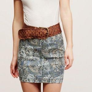 Free People Paisley Modern Femme Mini Skirt